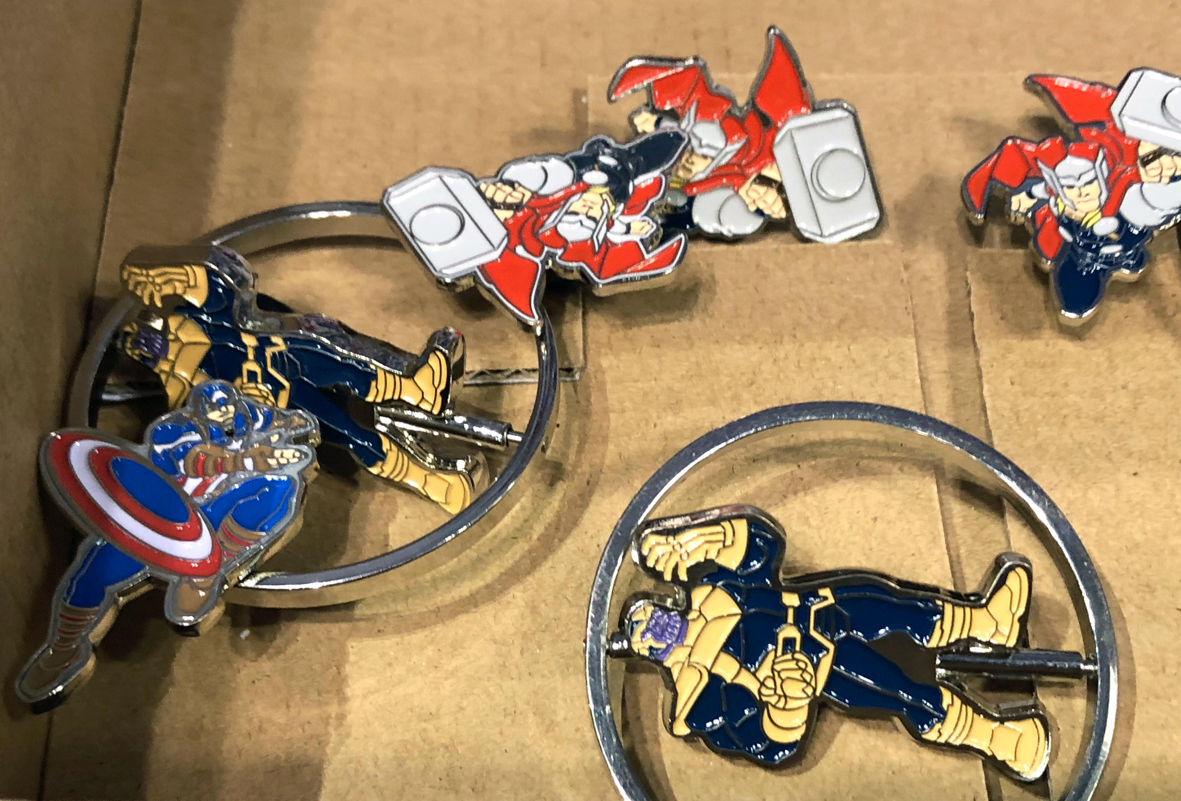 2018 Toy Fair Monogram International Magnetic Medallion Enamel Pins 02