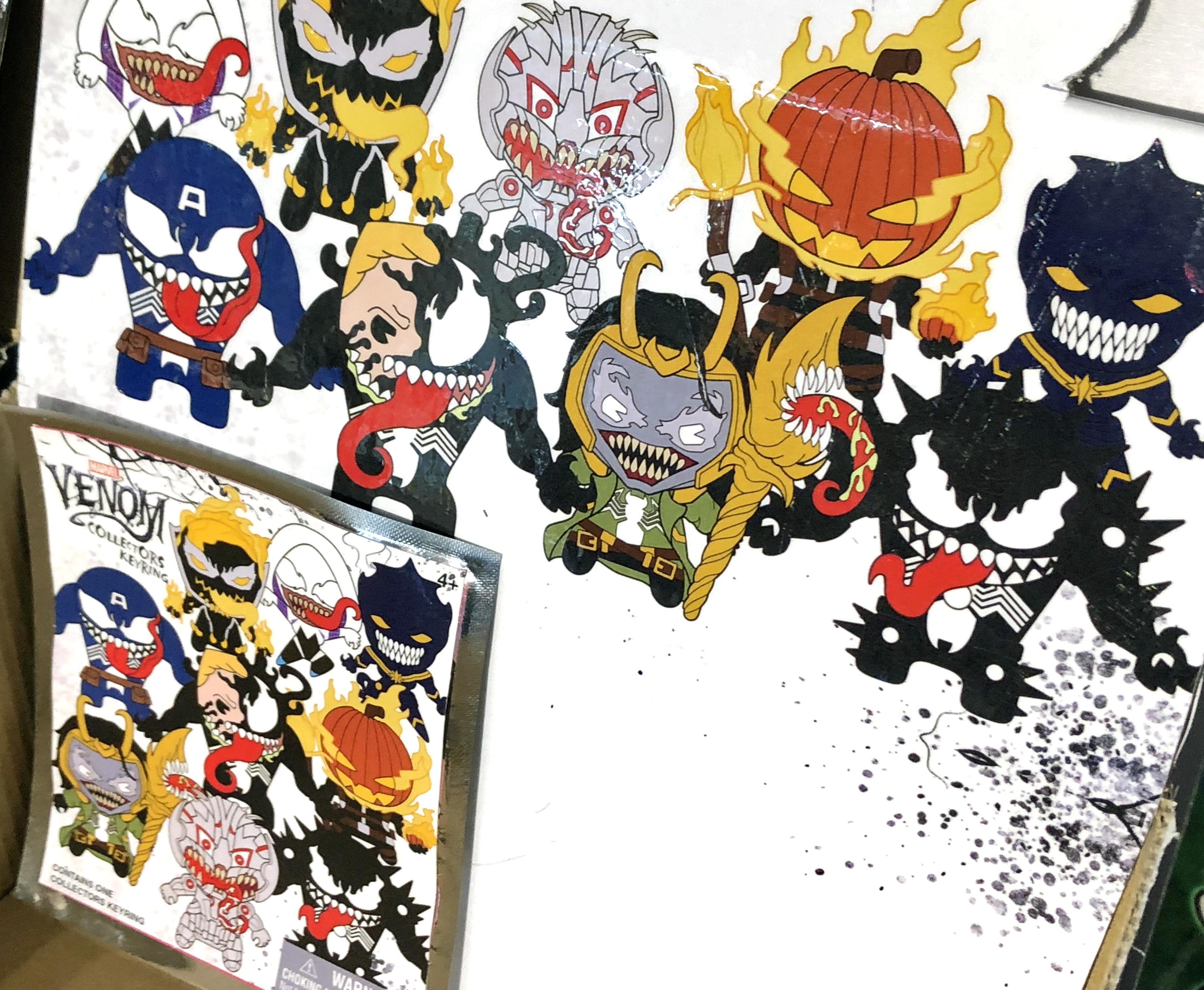2018 Toy Fair Monogram International Venom Collectors Keyrings 02