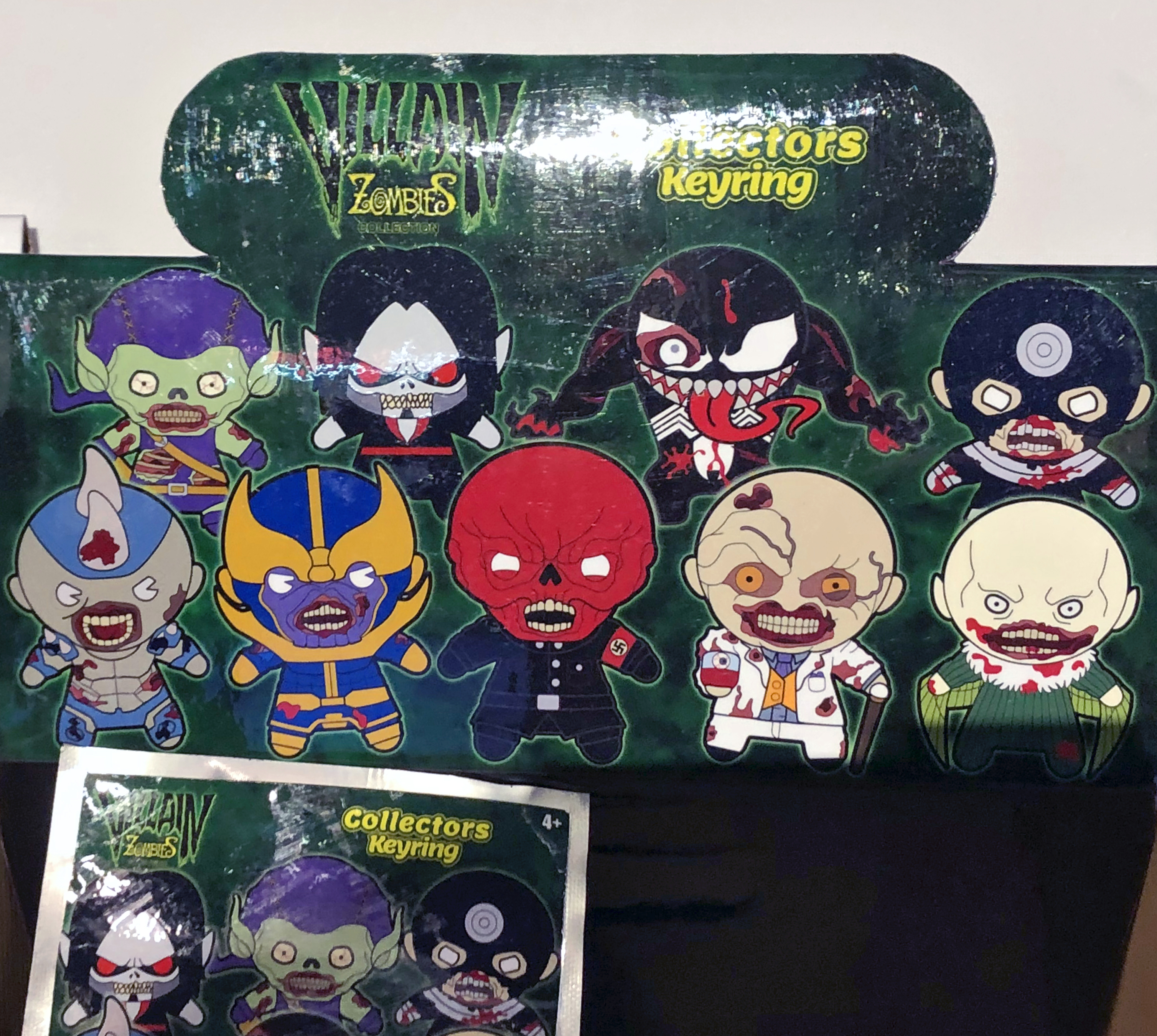2018 Toy Fair Monogram International Villain Zombies Collectors Keyrings 01
