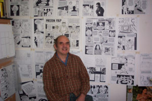 Photo of Now Playing Podcast Host Jakob Interviews Harvey Pekar